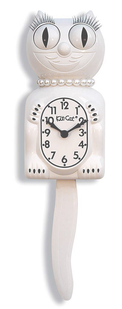 パドルビー Kit Cat Clock Lady ホワイト LBC-12 B00OCCNJZK ホワイト ホワイト