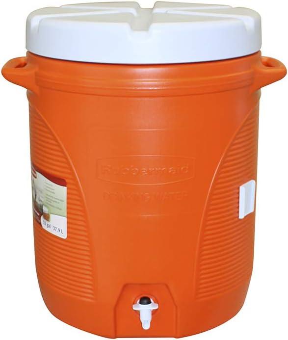 Rubbermaid Victory Jug Water Cooler, Orange, 10-gallon (FG16100111)