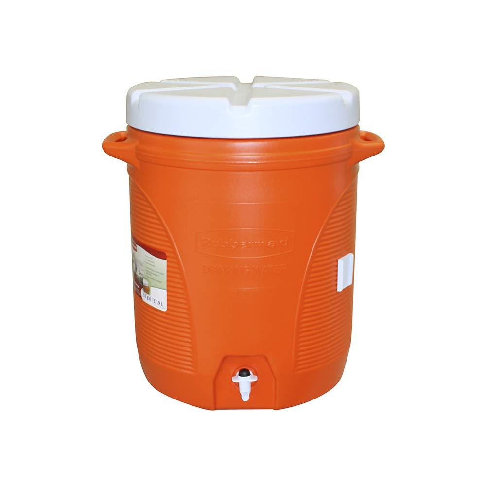 Insulated Beverage Dispenser, 10 Gallon, Spigot, Carrying Handles