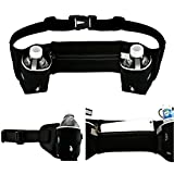 Oct17 Waist Pack Bum Bag – For Outdoor Sports, Fitness Workout, Hiking – Two Bottle Holder Pockets