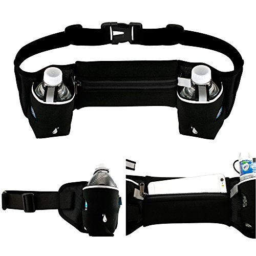 Oct17 Waist Pack Bum Bag Outdoor Sports, Fitness Workout, Hiking - Two Bottle Holder Pockets