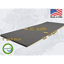"30"" X 82"" Upholstery Rubber Foam Sheet Cushion (Seat Replacement, Foam Padding) USA MADE NF33 (1"" x 30"" x 82"" Rubber Foam Sheet)"