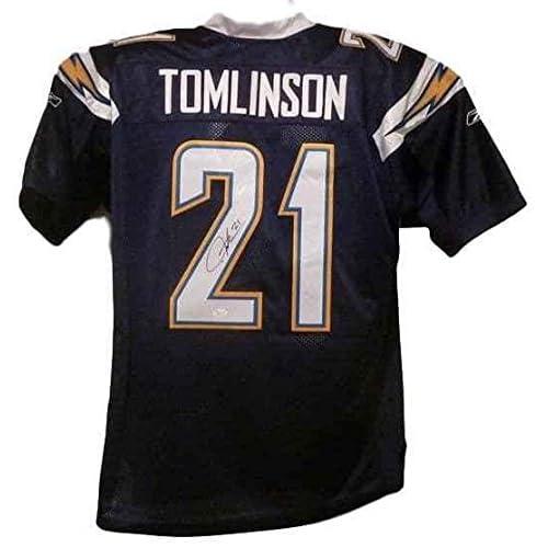0cc41657 60%OFF LaDainian Tomlinson Autographed Jersey - Reebok Size Xl Dark Blue  13612 - JSA