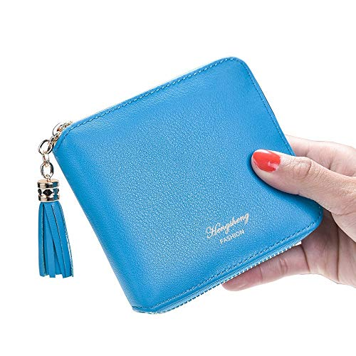 Blue Pure Pink Pendentif Mince léger Lovely Coin Little Slim rabbit et Color Lady Pompon Zero Wallet w1T0ZTq6