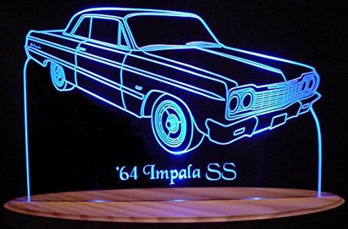 1964 Impala SS 2 Door Hardtop Acrylic Lighted Edge Lit LED 13
