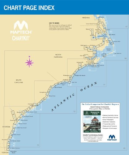 Maptech ChartKit® Book w/ Companion CD - Norfolk VA to Florida and the Intracoastal Waterway