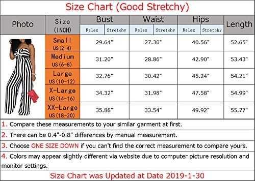 68241b73aae SheKiss Women s Sexy Spaghetti Strap Striped Tie Bowknot Long Pants Palazzo Jumpsuits  Rompers Ladies Outfits Black
