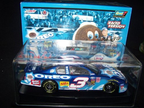 Dale Earnhardt Jr  3 blu 2002 Oreo Ritz Monte Carlo Revell Daytona 300 February 2002 Raced Win Version Busch Series 1 24 Scale Hood, Trunk Opens With Certificate of Authenticity Limited Edition