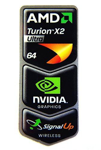 Original AMD Turion X2 Ultra 64 / NVIDIA / Signal Up Wireless Sticker 18 x 43.5mm [297]