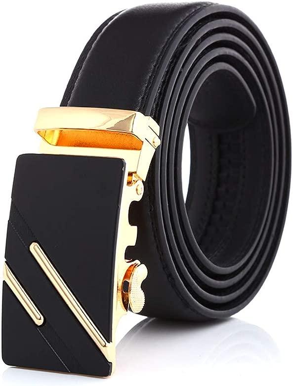Noble Belts Cinturón Hombre Cuero - Cinturón de cuero genuino con Hebilla Metálica Automática - Estilo Clásico y Moderno - Regalo para Hombre: ...