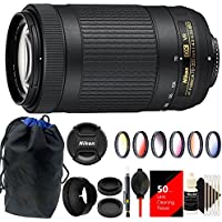 Nikon 70-300mm VR AFP f/4.5-6.3 DX ED Lens with Top Accessory Bundle