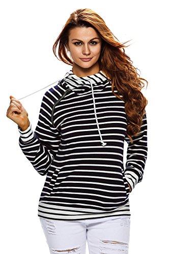 HOTAPEI Oblique Hoodies Pullover Sweatshirt