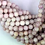 Natural Color Genuine Kunzite Round Real Gemstones Loose Beads for Jewerly Bracelet Making (6mm)