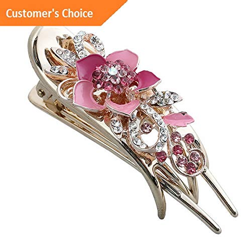 (Hebel Womens Hair Clips Claw Crystal Rhinestone Barrette Hairpin Hair Pin Accessories | Model HRPN - 6640 |)