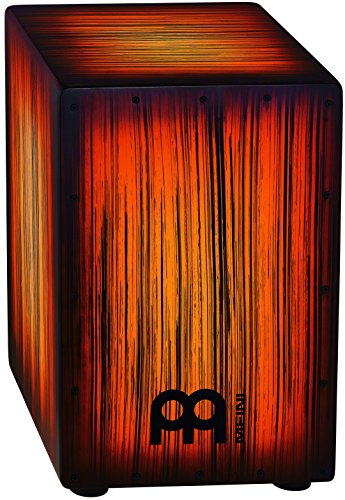 Meinl Percussion HCAJ2AMTS Headliner Series String Cajon, Amber Tiger Stripe (VIDEO) by Meinl Percussion