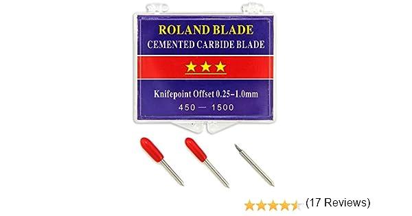 PixMax – Juego de 45 Grados Roland Blade/Cuchillas para Cortador de Vinilo Plotter de Corte y, Plata: Amazon.es: Hogar