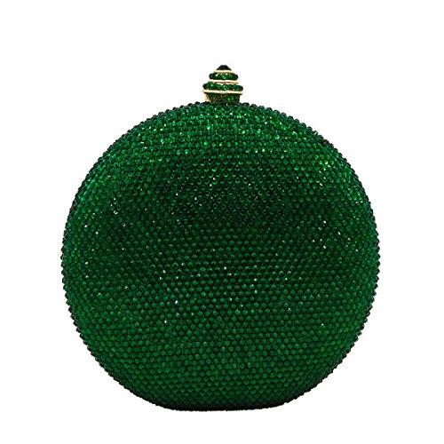 Fashion green De Pour De De Dames à Sac Diamond à Style Sac Soirée Banquet Flagon Dîner Strass Main Chaîne De Sac Hot Sac Mariée Sac De D'embrayage nvC8F8