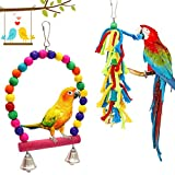 PETUOL Small Bird Swing Toys, 6 Packs Parrots