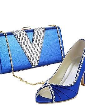 0f49b2c8f Zapatos de mujer - Tacón Stiletto - Punta Abierta / Zapatos y Bolsos a Juego  - Tacones - Vestido / Fiesta y Noche ...
