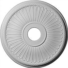 Ekena Millwork CM20BE1 20 1/8-Inch OD x 3 7/8-Inch ID x 1 7/8-Inch Berkshire Ceiling Medallion