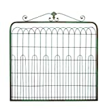Large Country Inspired Metal Gate Sage Green Wall Decor For Sale