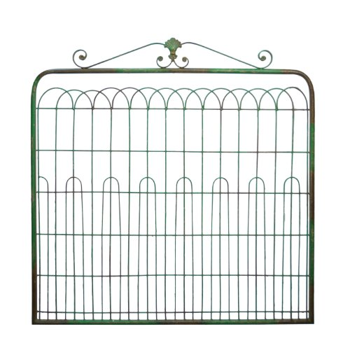 Large Country Inspired Metal Gate Sage Green Wall Decor by American Mercantile