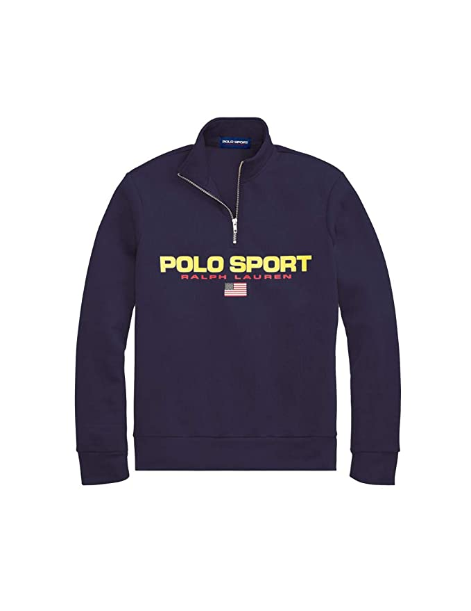 Felpa Ralph Lauren Polo Sport Marino Hombre L Azul: Amazon.es ...
