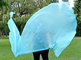 LIGHT BLUE Shimmer Angel Wing Catch the Fire Worship Flags (single layer pair)