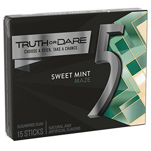 5 Gum Sweet Mint Sugarfree Gum, 15 Piece (10 Packs)