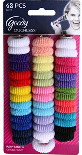 (Goody 32819 Ouchless Tiny Terry Ponytailers, Assorted Colors, 42 Piece Per Blister Pack)