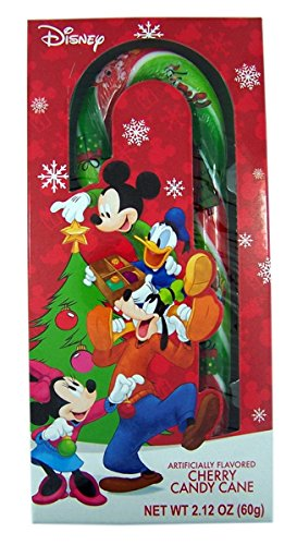 Disney's Mickey Mouse and Friends Cherry Christmas Candy Cane (Pack of 3) (Canes Candy Stickers)