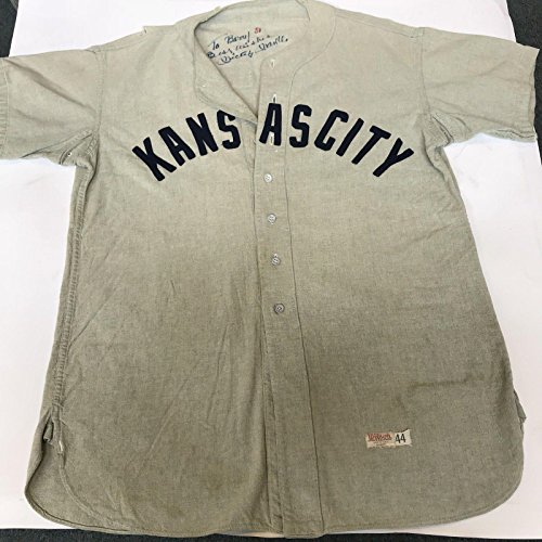 Mickey Mantle Autographed Jersey - 1951 Kansas City Blues Minor League - PSA/DNA Certified - Autographed MLB Jerseys