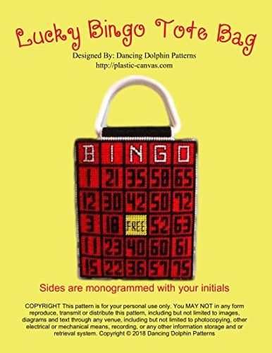 Lucky Bingo Tote Bag: Plastic Canvas Pattern