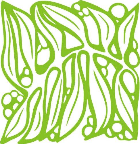 WANDTATTOO / Wandaufkleber - e69 strahlendes Blätterwerk 120x116 cm - gelbgrün