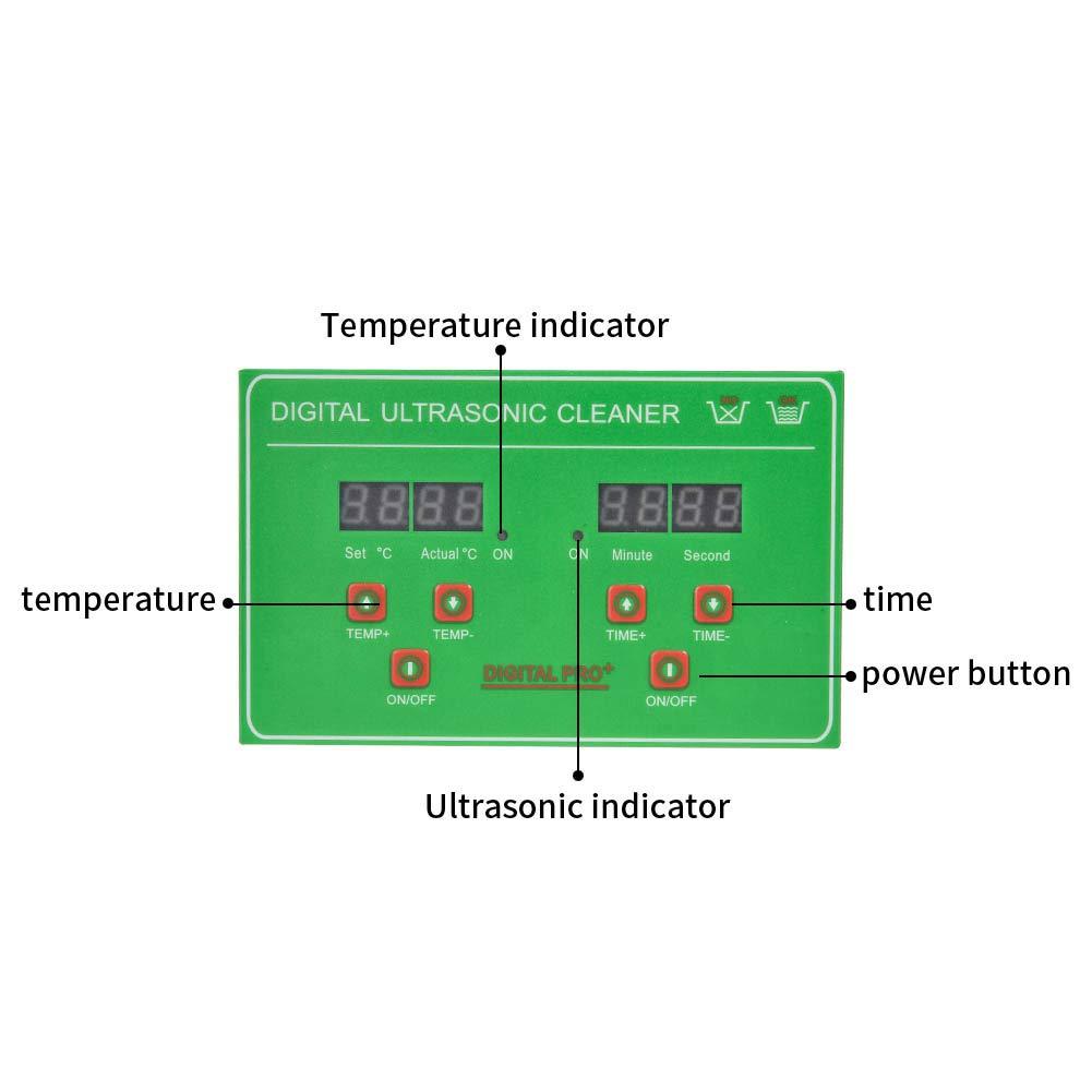 Careslong 3L Pulitore Ad Ultrasuoni Display Digitale Ultrasuoni Bagno Ultrasuoni Dispositivo con Timer Digitale Temporizzato per Pulizia Gioielli Occhiali Protesi Braccialetti Iniettori Anelli Collane