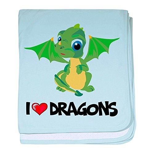 - CafePress - I Love Dragons baby blanket - Baby Blanket, Super Soft Newborn Swaddle