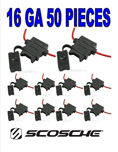 16 GA 50 PIECES ATC BLADE HEAVY DUTY FUSE HOLDER CAR AUDIO 12 VOLT AUTOMOTIVE by Scoschee