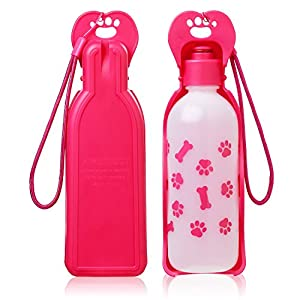Anpetbest Dog Travel Water Bottle, Portable Foldable Water Dispenser Drink Bottle for Daily Walks, Hiking, Camping, Beach, BPA Free Plastic-11 fl oz 50