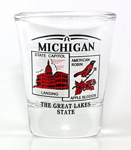 Michigan State Scenery Red New Shot Glass