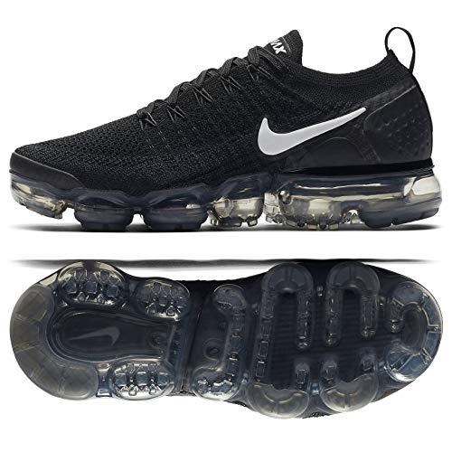 1d3184b2d11 Nike Women s Air Vapormax Flyknit 2 Black White-Dark Grey 942843-001 (Size   12)