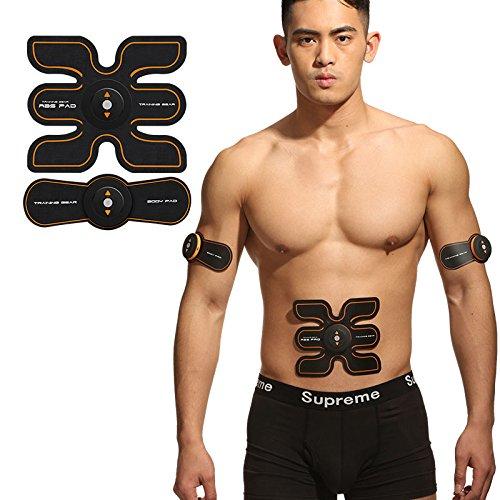 EMS腹筋ベルト腹筋トレ腹筋マシン,お腹引き締め 腕部太もも 筋肉刺激 脂肪減らす 充電式 携帯 便利 運動不足にお勧め   B07CYQKX96