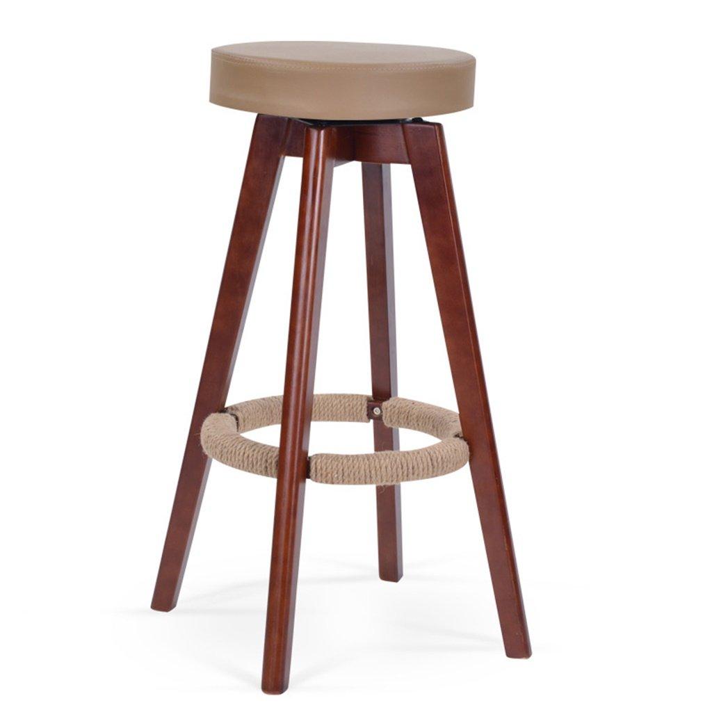 スツールヨーロッパスタイルのバーの椅子ソリッドウッドのバーの椅子背もたれの高いスツールホーム回転バーの椅子ファッションシンプルなバーのスツール (色 : A) B07DB72QY6 A A