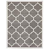 """Ottomanson Paterson Collection Contemporary Moroccan Trellis Design Lattice Area Rug, 5'3""""x7'0"""", Grey"""