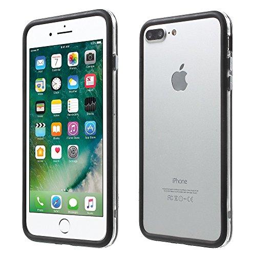 Transparent PC + TPU Bumper Tasche Hüllen Schutzhülle Case für iPhone 7 Plus 5.5 - schwarz