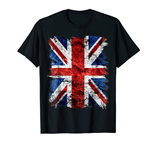 Mens Cool Graphic Design Grunge Style British Flag T-Shirt Small (Cool T-shirts Uk)