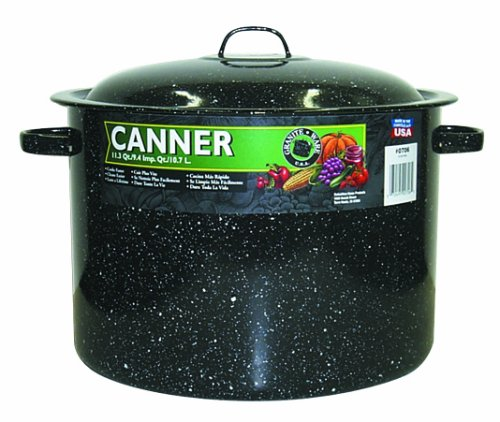 Granite Ware Covered Preserving Canner with Rack, 12-Quart ()