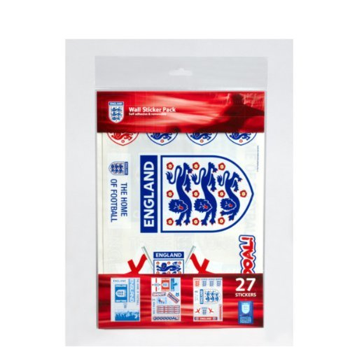 Offical F.A. England Football Wall Sticker Pack (27 pces) by Zap (Pce Pack)