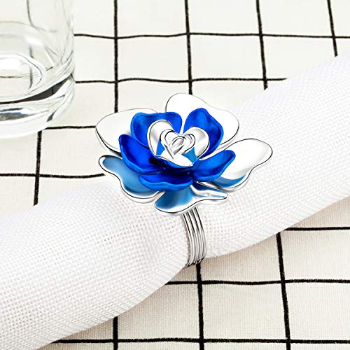VNFEI 6PCS Napkin Ring Napkin Buckle Party Restaurant Hotel Banquet Serviette Holder Wedding Bouquet Dinner Table Decoration Accessories by VNFEI (Image #2)'
