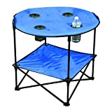Portable Camping Side Table for Outdoor Picnic, Beach, Games, Camp, and Patio Tables Folding with Carry Case for Travel and Storage (Blue)