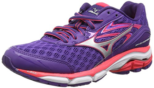 Mizuno  Wave Inspire 12, Damen Laufschuhe, Purple (Royal Purple/Silver/Diva Pink), 41 EU (7.5 UK)